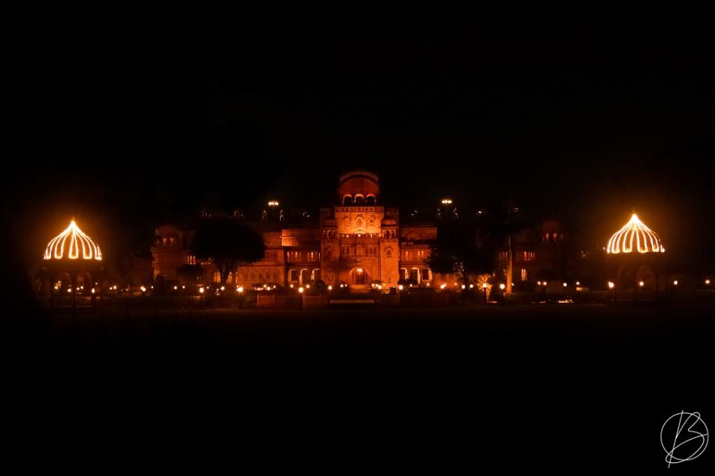Laxmi Niwas Palace, Bikaner at night